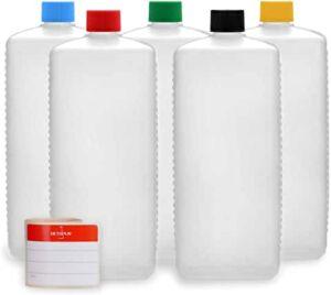 bouteilles à laver et réutiliser