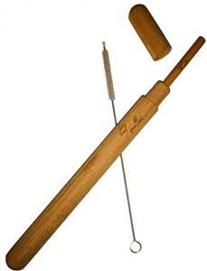 paille bambou artisanale brosse étui